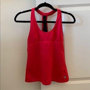 New balance hot pink workout tank top